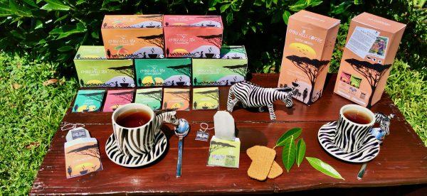 Verpackung Embu Hills Tea Sorten und Embu Hills Coffee